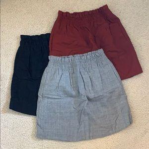 J.Crew paper bag mini skirts